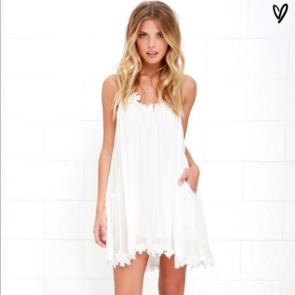 d0851d829 Lulu's Dresses   Lulus Lily Love Ivory Shift Dress Small   Poshmark